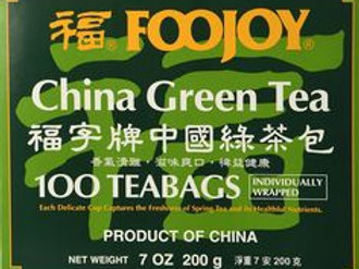 Foojoy China Green Tea 100bags 3 boxes Free Shipping