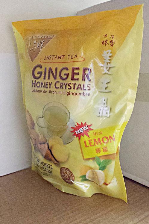 Prince of Peace Ginger Honey Crystal w/lemon 30bags 4 pkg Free Shipping