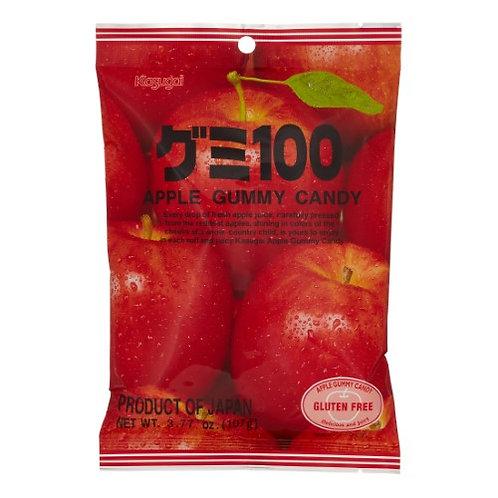 Kasugai GLUTEN FREE Apple Gummy Candy 107gm Free Shipping