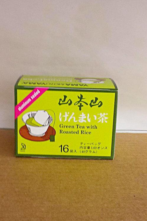 Yamaamotoyama Genmai-cha 16bags 3 boxes Free Shipping
