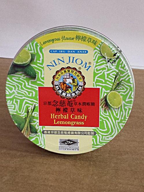 Nin Jiom Herbal Candy Lemongrass 60gm 3 cans Free Shipping
