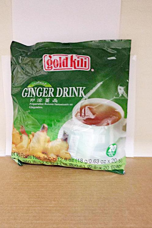 Gold Kili Instant Ginger Drink 20 sacs 4 pkg  Free Shipping