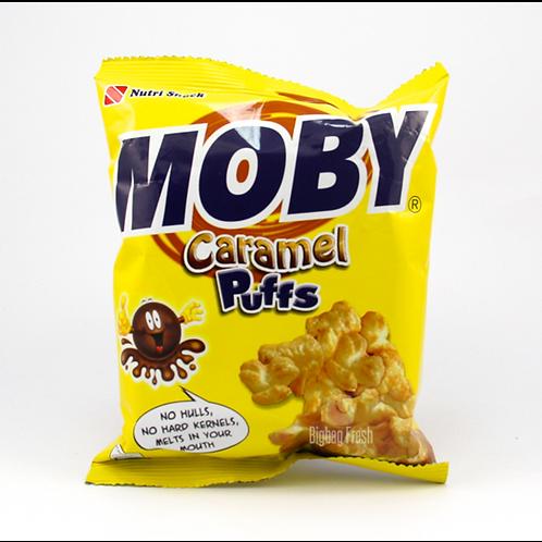 Moby Caramel Puffs 60gm 10pkg Free Shipping
