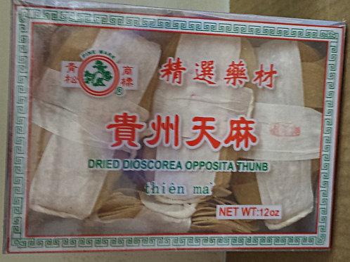 Dried Dioscorea Opposita Thunb (Thien Ma) 12oz Free Shipping