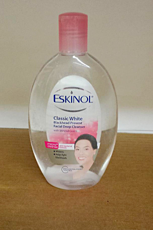 Eskinol Classic White with Mineral Grains 225ml 3 bottles Free Shipping