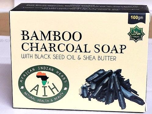 AIH Bamboo Charcoal Soap 100gm 3 bars Free Shipping
