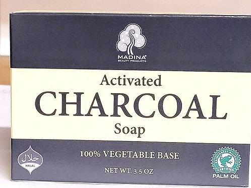 Madina Activated Charcoal Soap 3.5oz 3 bars Free Shipping