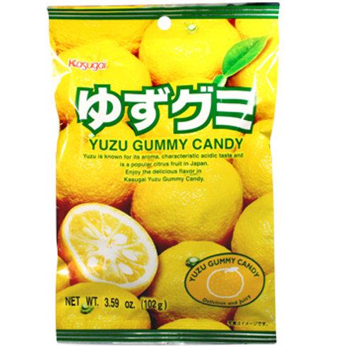 Kasugai Yuzu Gummy Candy 102gm Free Shipping