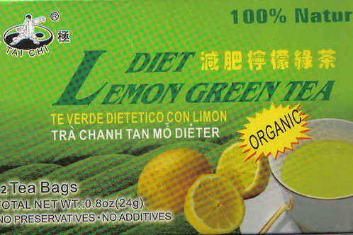 Tai Chi Diet Lemon Green Tea 12bags 6 boxes Free Shipping
