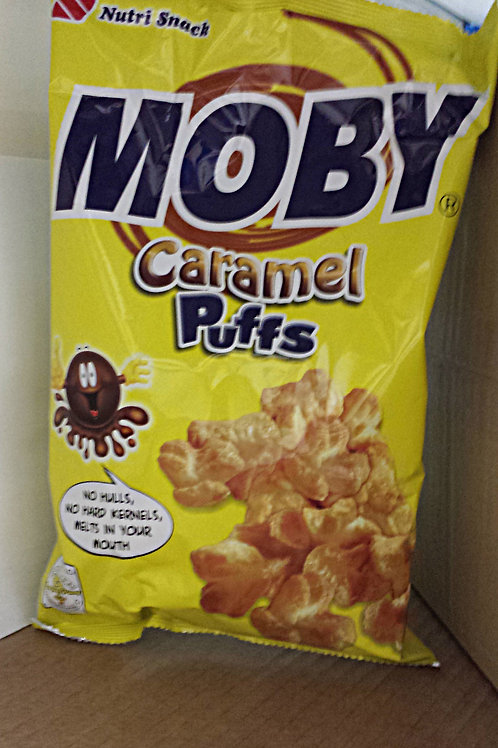 Moby Caramel Puffs 90gm 6pkg Free Shipping