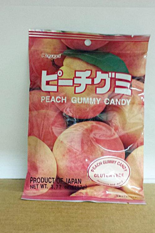 kasugai GLUTEN FREE Peach Gummy Candy 107gm 6 pkg Free Shipping