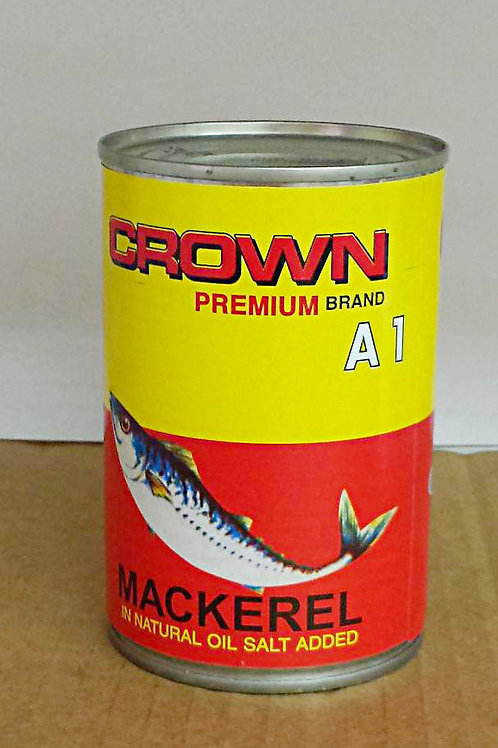 Crown Premium Brand Mackerel 15oz, 4 cans for $37.89+Free Shipping