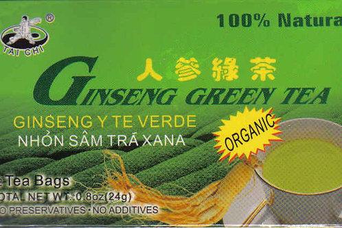 Tai Chi Ginseng Green Tea 12bags 6 boxes Free Shipping