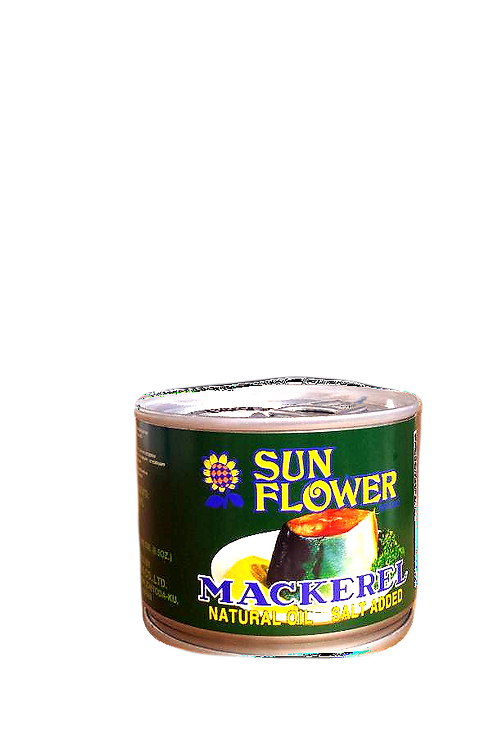 Sun Flower Mackerel in Natural Oil Green 190gm 6 cans Free Shipping