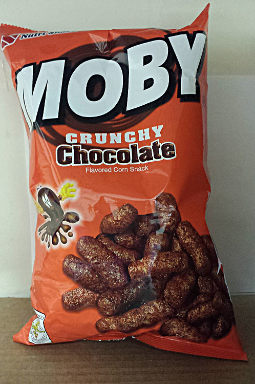 Moby Crunchy Chocolate Corn Snack 90gm 6 pkg Free Shipping