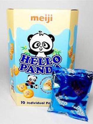 Meiji Hello Panda Cookies with Vanilla Creme 60gm Free Shipping