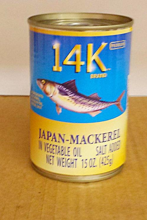 14K Japan-Mackerel 15oz, 5 cans for $54.99+Free Shipping