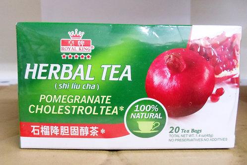 Royal King Pomegranate Cholestrol Tea 20bags 8 boxes Free Shipping