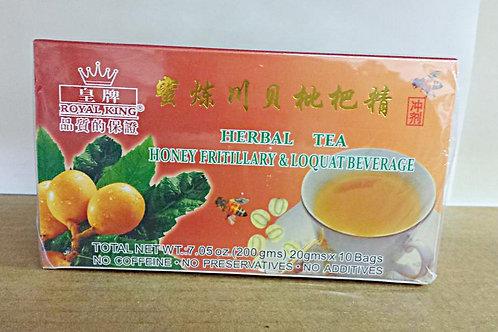 Royal King Honey Fritillary & Loquat Beverage 10 bags 5 boxes Free Shipping