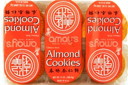 Amays Almond Cookies 368gm Free Shipping
