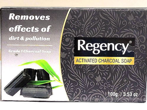 Regency Activated Charcoal Soap 100gm 3 bars Free Shipping