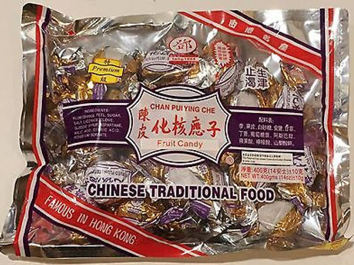 THK Premium Chan Pui Ying Che Fruit Candy 400gm 3 pkg Free Shipping
