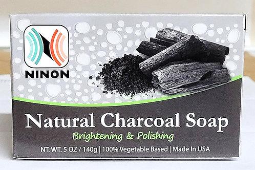 Ninon Natural Charcoal Soap 5oz 3 bars Free Shipping