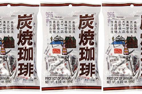 Kasugai Sumi Yaki Coffee Candy 95gm Free Shipping