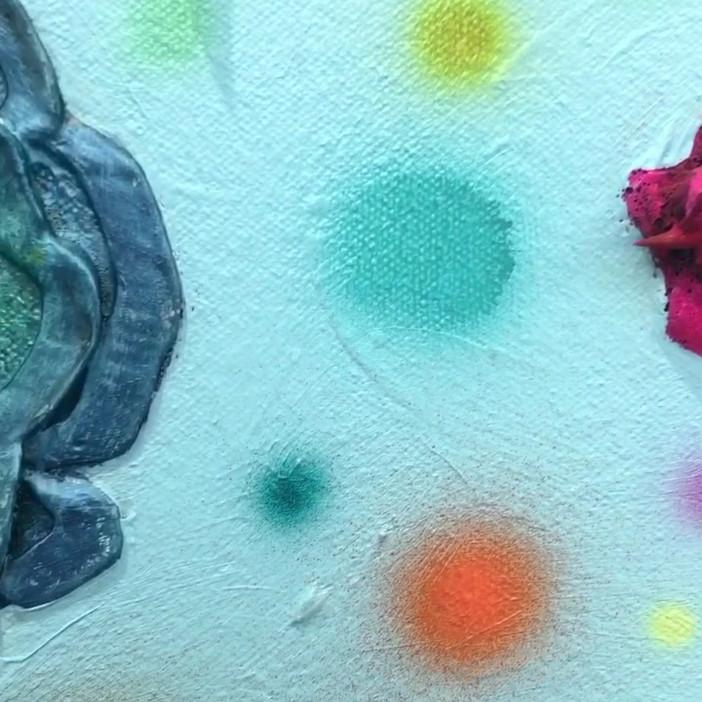 The Flowery hanging up in Eli's art studio