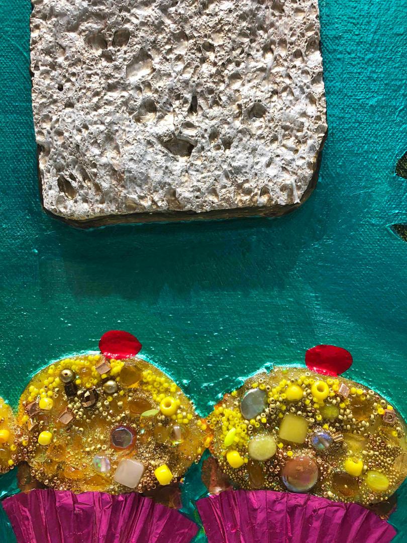 Cornbread Muffins close up 3