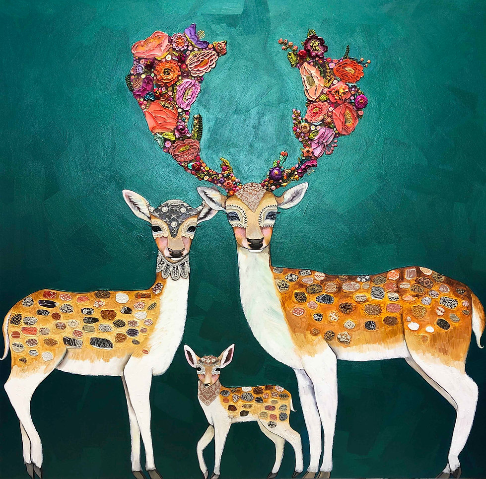 Fallow Deer Family 5x5 ft 2019 copy.jpg