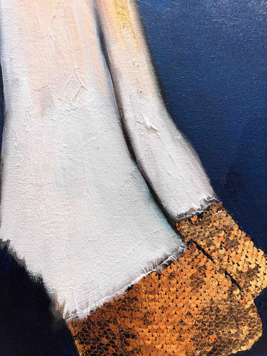 Gold Shoes close up 6