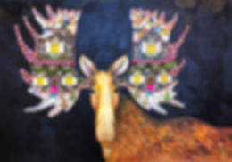 Gingerbread_House_Moose_2019_42x60_inche