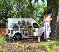 Eli in her garden