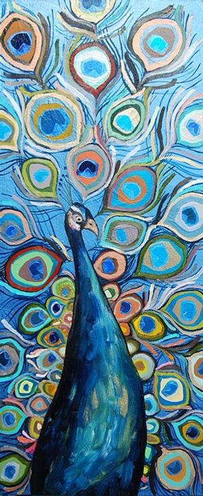 Peacock in Metallic Ocean Blue 2011 42.5