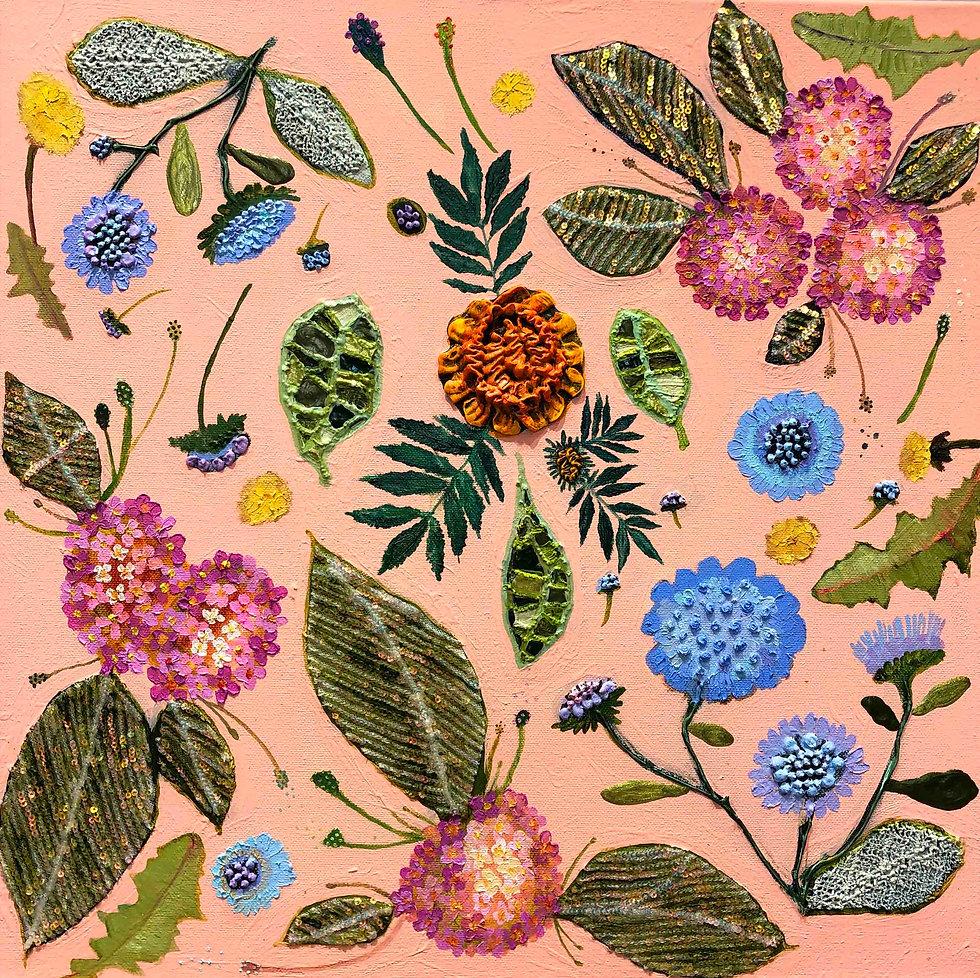 Pincushions, Dandelions and Lantana Flow