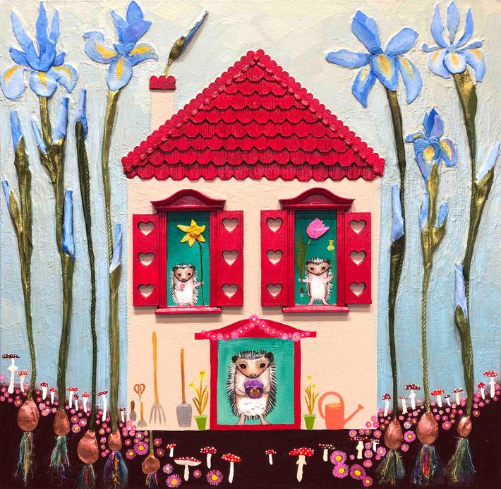 hedgehog-house-24x24-inches-2021jpg