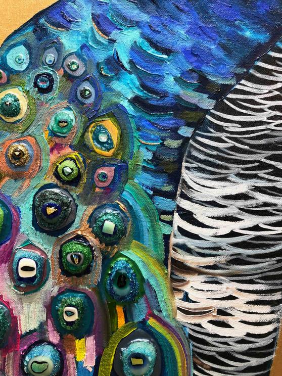 Peachicks close up 2