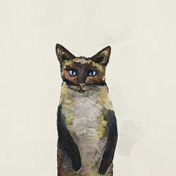 My Siamese Cat painting is now available