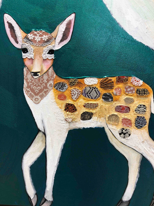 Fallow Deer Family close up 2