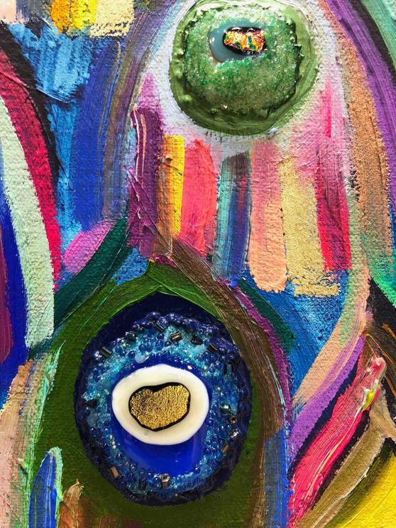 Peachicks close up 3