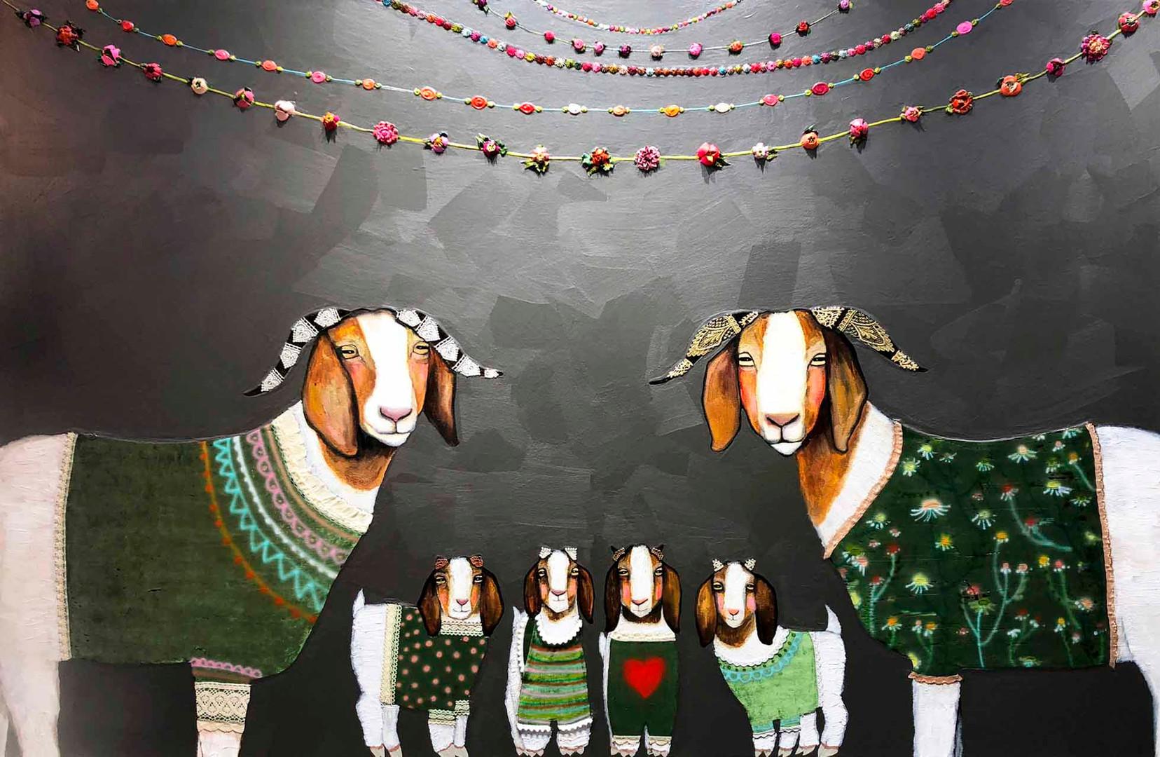 Boer Goats in Sweaters by Eli Halpin