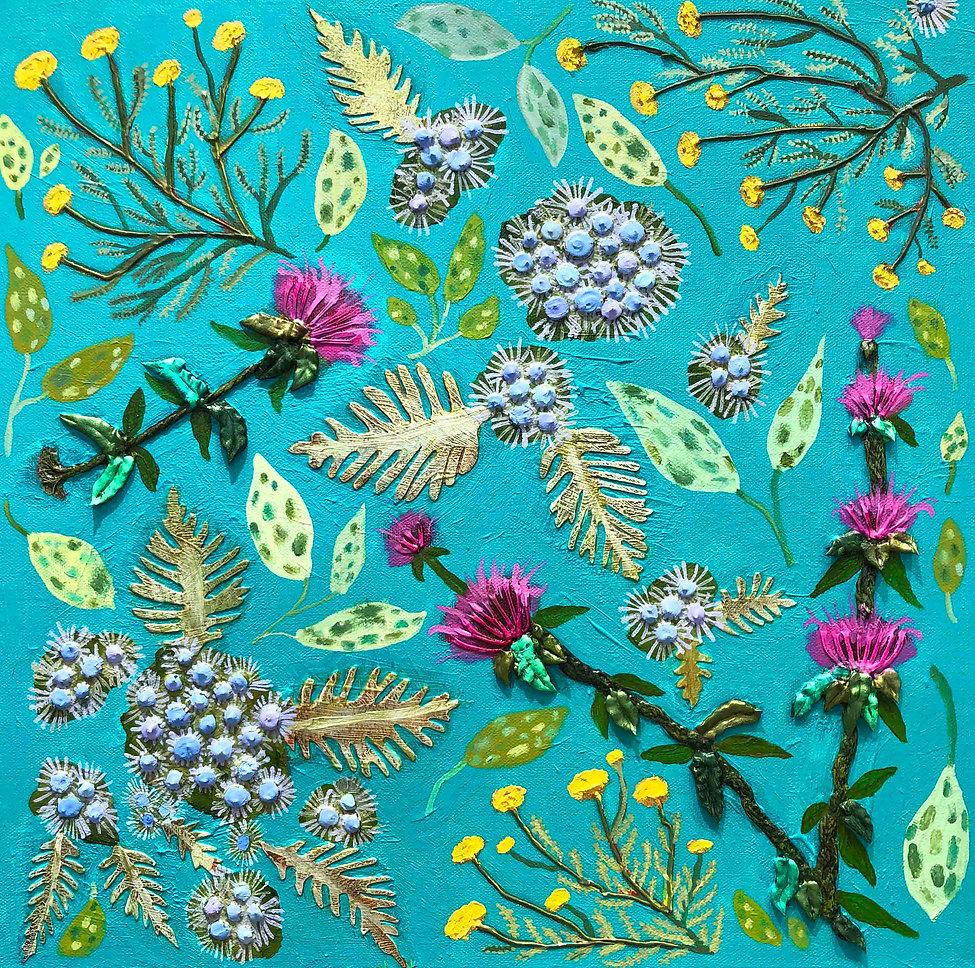 Santolina, Mist Flower and Bee Balm 18x1