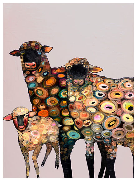Sheep on Lavender by Eli Halpin