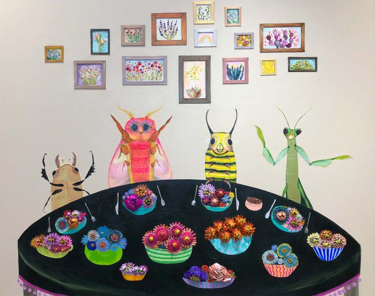 """Caterpillar's House 48"""" x 60""""  $6200"""