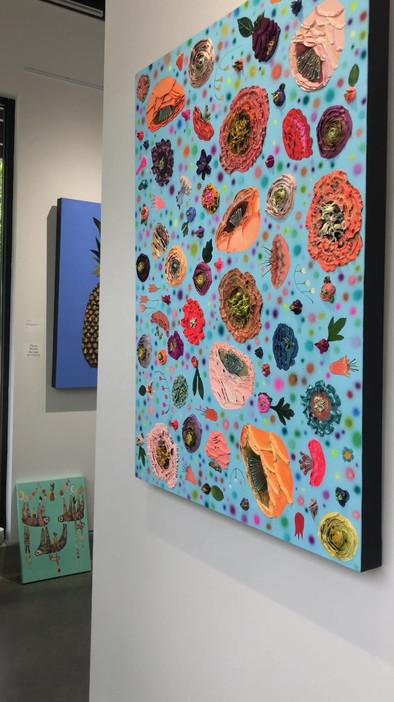 The Flowery hanging up at Eli's art studio
