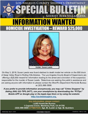 HOMICIDE INVESTIGATION- INFORMATION WANTED
