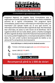 LA Crime Stoppers Romanian information
