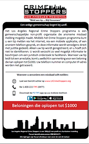 LA Crime Stoppers Dutch information