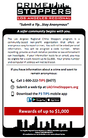 LA Crime Stoppers English information
